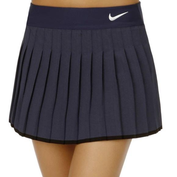 Nike Navy Pleated Tennis Sport Skort